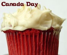Canada Day Cupcakes (Red Velvet Cupcakes with Cream Cheese Frosting) |   .:thirty something mom blog