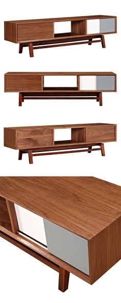 Get your entertaining space in order with this stunning Blox Media Unit. Handsomely crafted, this enchanting piece offers a modern take on an iconic mid-century design. This media unit comes convenient...  Find the Blox Media Unit, as seen in the On the Bright Side of Danish Modern Collection at http://dotandbo.com/collections/on-the-bright-side-of-danish-modern?utm_source=pinterest&utm_medium=organic&db_sku=115613
