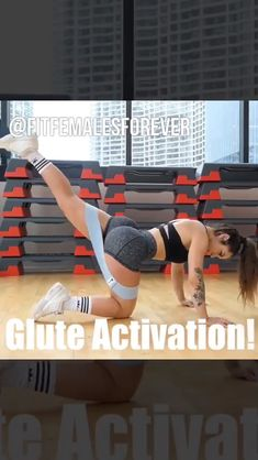 Glute Activation - Hazel N. Gym Workout Videos, Ab Workout At Home, Butt Workout, Gym Workouts, At Home Workouts, Band Workouts, Fitness Herausforderungen, Fitness Workout For Women, Fitness Motivation