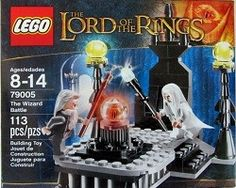 The new Wizard Battle LEGO set, with Gandalf and Saruman.