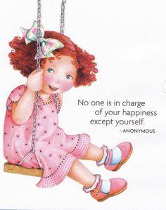 Handmade Fridge Magnet-Mary Engelbreit Artwork-Being Happy Is Fun Mary Engelbreit, Happy Thoughts, Positive Thoughts, Positive Mind, Positive Quotes, Wise Words, Childrens Books, Illustrators, Favorite Quotes