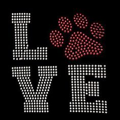 Love Paw Print / Dogs by Mychristianshirts on Etsy