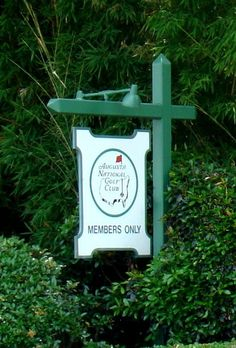 The Augusta National Golf Club. Home of the Master's Tournament.