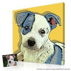 Personalized Gifts for Pet Lovers - Exclusive Warhol pop art portraits on canvas from your...