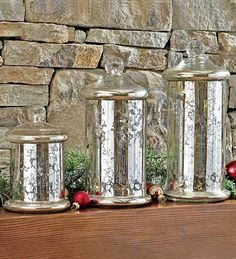 Mercury Glass Canisters