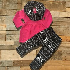 Baby Girl Outfit Clothes Hot Pink & Black 3 by MoxieGirlBoutique...love this…