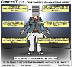 Your lifetime value to Big Pharma - $1,000,000  Do you really think they want you to be healthy?
