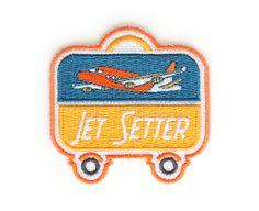 Jet Setter Iron On Patch by MokuyobiThreads on Etsy https://www.etsy.com/listing/156262999/jet-setter-iron-on-patch
