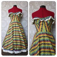Vintage 1940's 50's Colony Casuals Novelty Print Dress by pursuingandie, $172.00