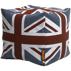 Pouf drapeau anglais  lazy bag  49.00 usineadesign.com