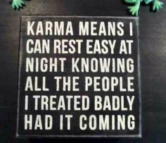 Karma from a different viewpoint