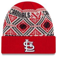 d5334f66197 St. Louis Cardinals New Era Cozy Cuffed Knit Hat - Red
