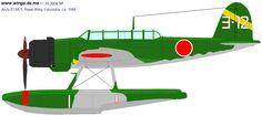 Aichi E13A1a (Type 0 Model 11-Kou) / Unit: Naval Wing Yokosuka : Serial: Yo-12