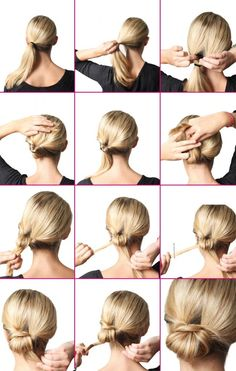 Over 35 Instant Bun Tutorials for Last Minute Office Calls - OutfitCafe - Brö . - Over 35 Instant Bun Tutorials for Last Minute Office Calls – OutfitCafe – Bun Tutorials. Low Bun Hairstyles, Easy Hairstyles For Medium Hair, Wedding Hairstyles, Updo Hairstyle, Chignon Updo Short Hair, Drawing Hairstyles, Male Hairstyles, Korean Hairstyles, Office Hairstyles