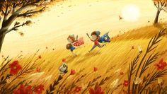 Summer days - Children's illustration @IllustrateLucy www.lucyflemingillustrations.com