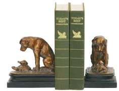 brass dog bookends - Google Search