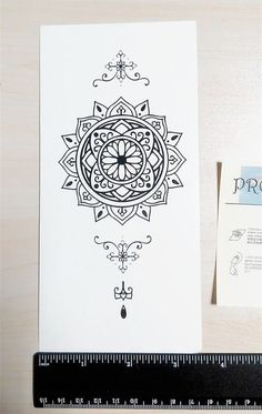 Mandala Temporary Tattoo Ethnic Art Mandala by prosciuttojojo