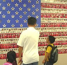 Veteran's Day or Memorial Day Patriotic Bulletin Board Idea