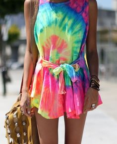 This reminds me of a girl me and my group saw on our choir in a tye-dye dress in the amusement park! :) @denise grant Edwards