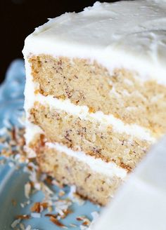 This is THE Best Banana Cake recipe! It's so soft, easy to make and perfectly sweet! Top it with cream cream cheese frosting! I LOVE it!