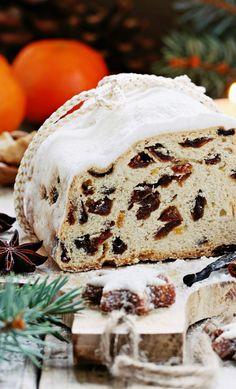A Classic German Dresden Christmas Stollen - 31 Daily Christmas Stollen Recipe, German Christmas Food, Xmas Food, Christmas Sweets, Christmas Bread, Christmas Goodies, Stollen Bread, German Stollen, Gourmet