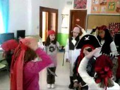 """Canción de Juan R. Muñoz. Letra: """"Juanito es un pirata con pañuelo rojo, la pata de palo y un parche en el ojo. Pirata-ta Pirata-ta Pirata-ta-ta-ta"""" Pirata-t... Videos, Decor, Kids Songs, Carnival, Red Bandana, Nursery Rhymes Lyrics, 4 Year Olds, Pirates, Decoration"""