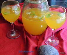 Moje Małe Czarowanie: Lemoniada miodowo - bazyliowa z kurkumą