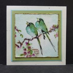 CC519 CAS313 Birds by hobbydujour - Cards and Paper Crafts at Splitcoaststampers