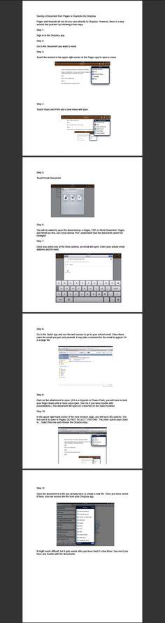 Saving Docs from iPad to Dropbox (tutorial)