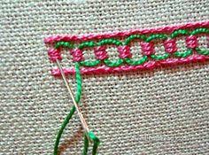 Guilloche stitch ༺✿ƬⱤღ  http://www.pinterest.com/teretegui/✿༻