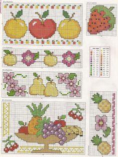 Fruit - free cross stitch patterns
