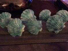 Painted Shower Ring Seashells