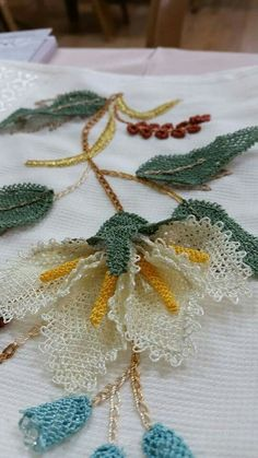 İğne oyası Turkish needle lace