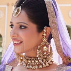 A A I N A - Bridal Beauty and Style: The Accessorized Bride: Art Karat's Begum Collection Indian Accessories, Bridal Accessories, Wedding Jewelry, Traditional Indian Jewellery, Indian Jewelry, Mughal Jewelry, Bridal Beauty, Bridal Makeup, Indian Bridal