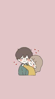Cute Bear Drawings, Cute Couple Drawings, Cute Little Drawings, Anime Couples Drawings, Cute Anime Couples, Cartoon Drawings, Cartoon Art, Anime Couples Hugging, Cute Chibi Couple