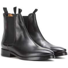 Acne Studios Bess Leather Chelsea Boots (2 475 PLN) ❤ liked on Polyvore featuring shoes, boots, black, black chelsea boots, black boots, chelsea boots, chelsea bootie and leather boots