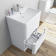 Mode Ellis white floorstanding vanity drawer unit and basin Vanity Drawers, Basin Taps, White Vanity, Bathroom Collections, Drawer Unit, Bathroom Furniture, Bathroom Ideas, Family Bathroom, Mixer Taps