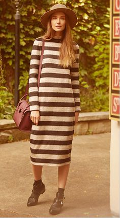 Tibi Turtleneck Long Sleeve Dress...HOW FRUMPY IS THIS..I DON'T CARE HOW BEAUTIFUL YOU ARE THIS IS NOT..NOT..NOT..FLATTERING..