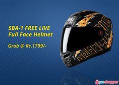 #Helmetsafety SBA-1 FREE LIVE FULL FACE HELMET #bikers order now from www.yooshopper.com, http://www.yooshopper.com/product/16811/547/sba-1-free-live-580mm?lcId=145431