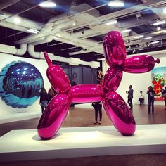 Jeff Koons retrospective at Pompidou Center in Paris. Contemporary art.