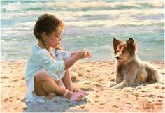 TOGETHER ON SAND, painting Vladimir Volegov