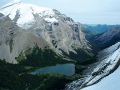 #hiking #ExploreAlberta Ribbon Lake from Mount Kidd in Kananaskis Country west of Calgary, Alberta, Canada