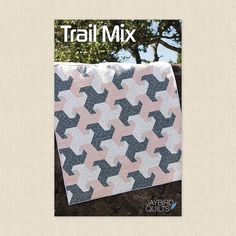 Trail Mix Sewing Pattern by Jaybird Quilts - Hawthorne Supply Co Quilt Patterns, Sewing Patterns, Jaybird Quilts, Tesselations, Jay Bird, Modern Fabric, Quilting Projects, Trail, Wallpaper