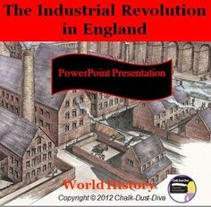 This creative 67-slide lecture power point presentation reviews the major reason why the Industrial Revolution began in Britain and the major effects of industrialization. $