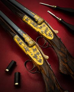 A Magnificent Pair Of Museum Grade Westley Richards Sidelock Shotguns Wooden Chair Plans, Fort Knox, Fighting Poses, Skin Line, Shooting Guns, Custom Guns, Fire Powers, Hunting Rifles, Firearms