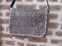 Sac besace bandoulière réglable en laine et fibres mélangées, entièrement doublé en coton. par FeeHome, etsy shop