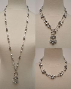 Lovely 3 in 1 necklace custom made in your choice of color. $65 3in1 Image