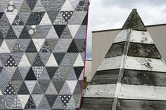 quilt: love triangle in shades of gray || Film in the Fridge