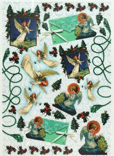 Rice Paper for Decoupage Decopatch Scrapbook Craft Sheet Vintage Angels Night