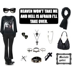 """""""Gothic spring fashion # 1 plus size casual basic look"""" by merlettigotici on Polyvore"""